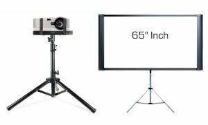 Projector + Small Screen Rental